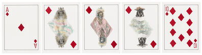 William Wegman, 'Royal Flush: Diamonds', 1998