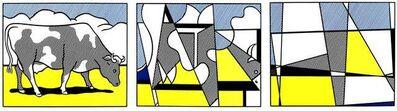 """Roy Lichtenstein, 'Serigraphic Triptych """"Cows"""" by Roy Lichtenstein', 1982"""
