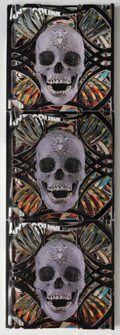 Francesca Pastine, 'Artforum 48 (Totem), Unsolicited Collaboration with Damien Hirst, Mask Series'