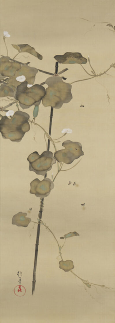 Sakai Hoitsu, 'Fireflies and Evening Faces 夕顔蛍', Late-Edo period (late 18th to early 19th century)