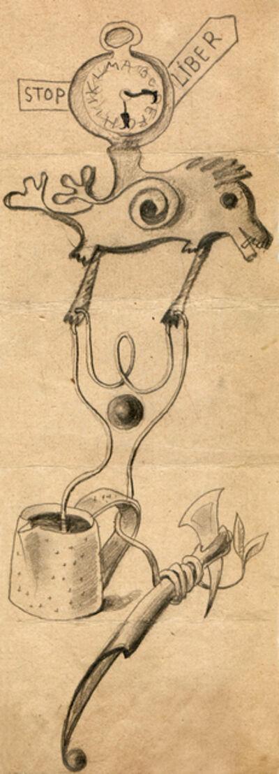 Hedda Sterne, 'Hedda Sterne with Theodore Brauner and Medi Wechsler Dinu, Cadavre exquis no 99', 1930-1932