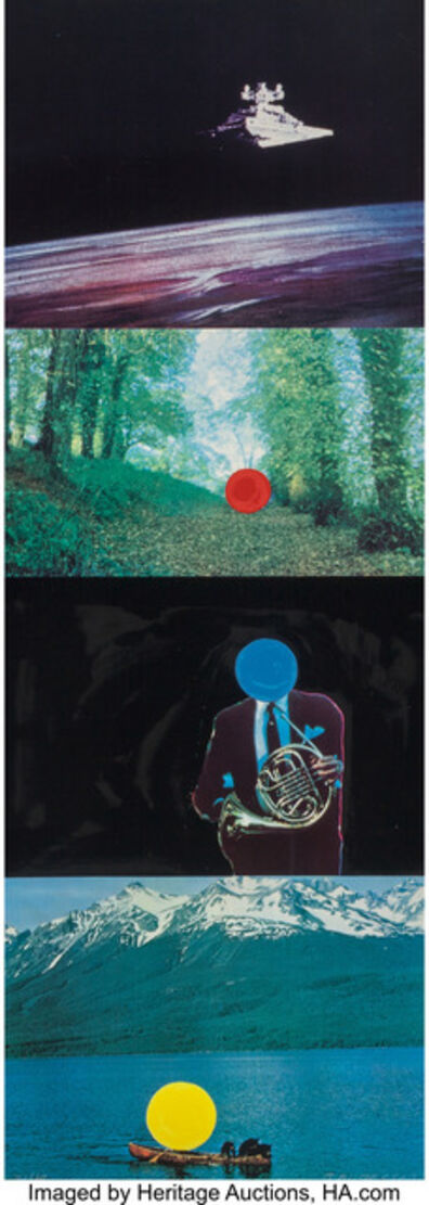 John Baldessari, 'French Horn Player (with Three Contexts One Uncoded)', 1994