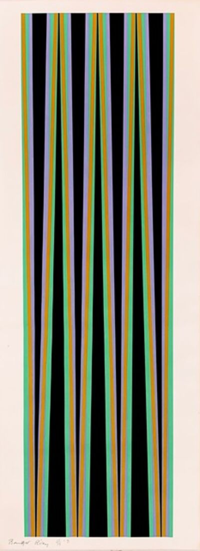 Bridget Riley, 'Elongated Triangle 6', 1971
