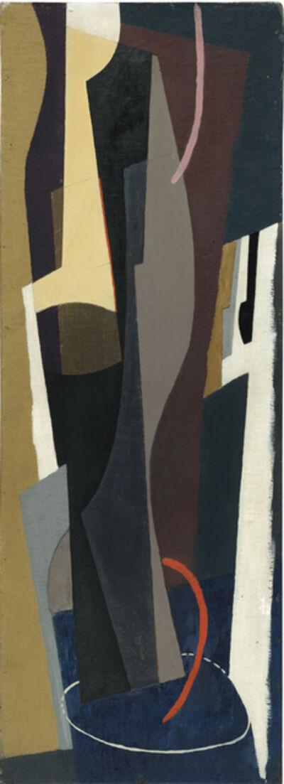 John Piper, 'Tall Forms on Dark Blue', 1937