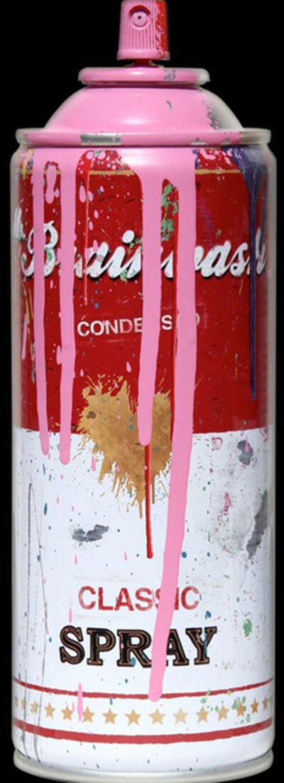 Mr. Brainwash, 'Campbell's Soup Spray Can (Pink)', 2013