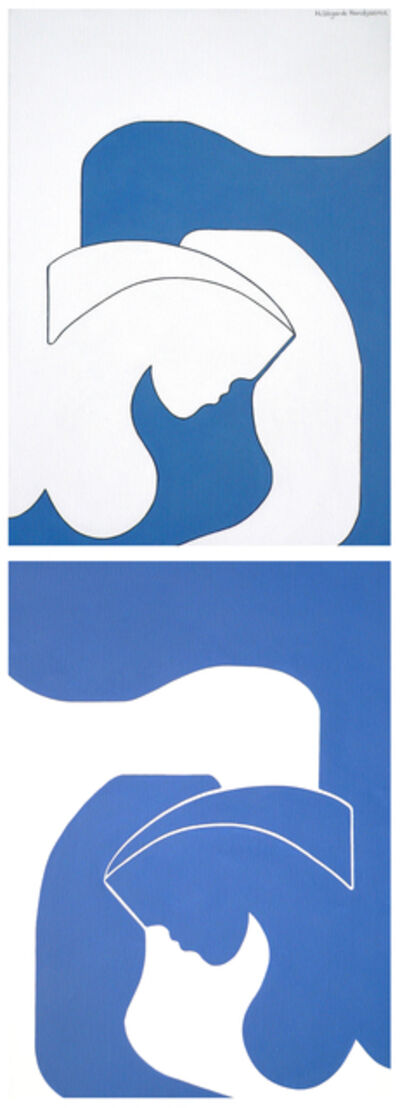 Hildegarde Handsaeme, 'Blue Shadow (diptych)', 2009