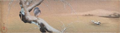 Kakunen Tsuruoka, 'pair of heron on snowy branch', n.d.-ca. 1920s