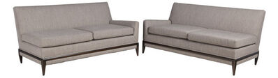Tommi Parzinger, 'Pair of One-Arm Sofas'