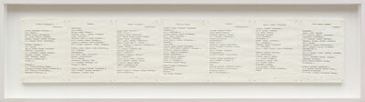 Irma Blank, 'Trascrizioni, Dichtung Version IV', 1974