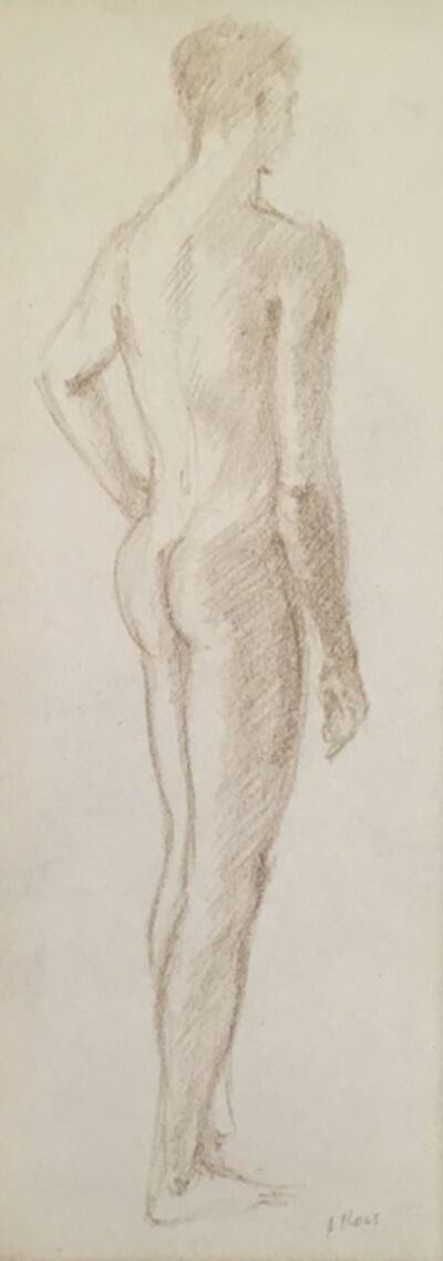 Alvin Ross, 'Male Standing from Behind', Mid 20th c.
