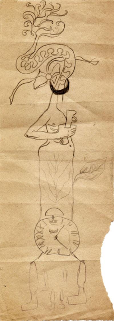 Hedda Sterne, 'Hedda Sterne with Jules Perahim and Medi Wechsler Dinu, Cadavre exquis 251', 1930-1932