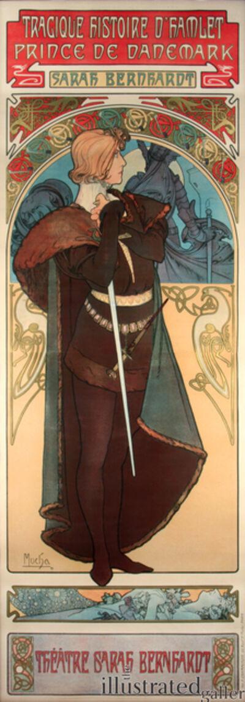 Alphonse Mucha, 'Hamlet', 1899