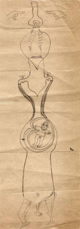 Hedda Sterne, 'Hedda Sterne, Jules Perahim, Medi Wechsler Dinu, Cadavre exquis 252', 1930-1932
