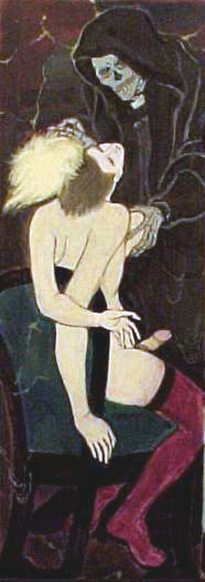 Masami Teraoka, 'Confessional Series/Woman and Skeleton', 1994