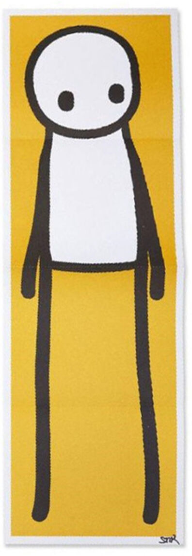 Stik, 'SIGNED Standing Figure Yellow poster', 2015