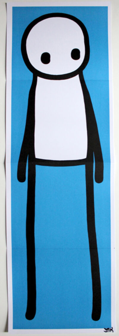Stik, 'Standing Figure Blue SIGNED', 2015