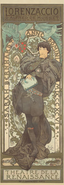 Alphonse Mucha, 'Lorenzaccio.', 1896