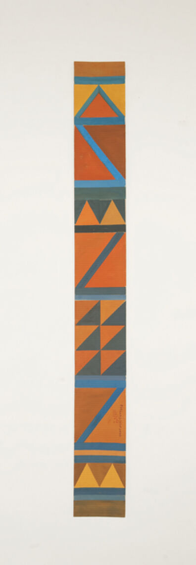 Chant Avedissian, 'B7 - Bedouin kilim pattern with 2 orange triangles at the bottom', 2016