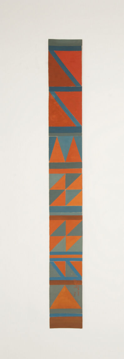 Chant Avedissian, 'B8 - Bedouin kilim pattern with 1 red triangle at the bottom', 2016