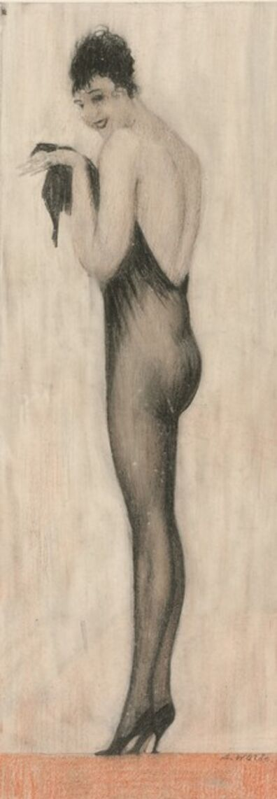 "Alfons Walde, '""Der lange Strumpf"" (The long stocking)', 1922-1925"