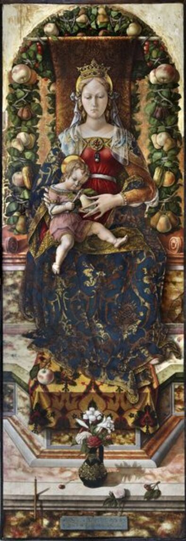 Carlo Crivelli, 'Madonna della Candeletta (Madonna of the Candle)', 1488-1490