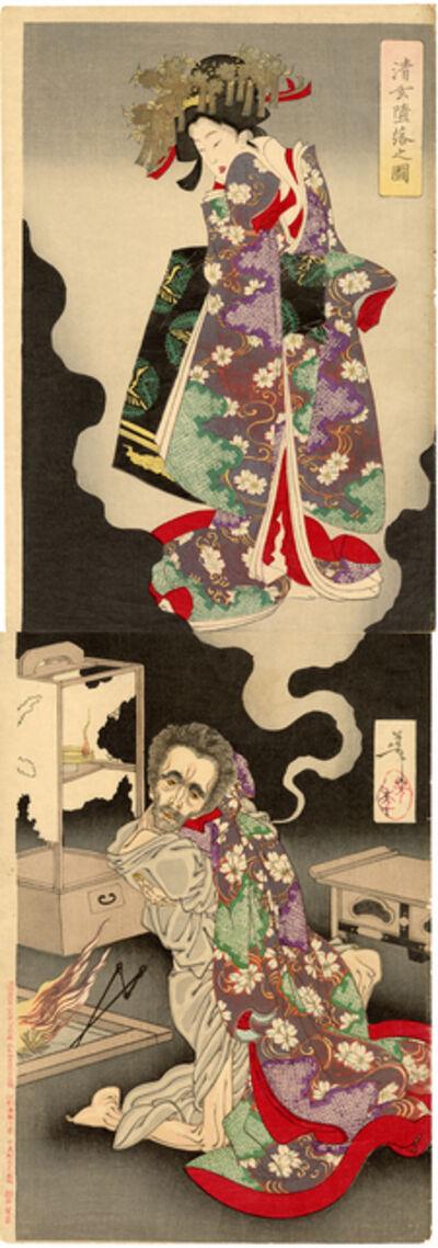 Tsukioka Yoshitoshi, 'The Depravity of the Abbot Seigen', 1889