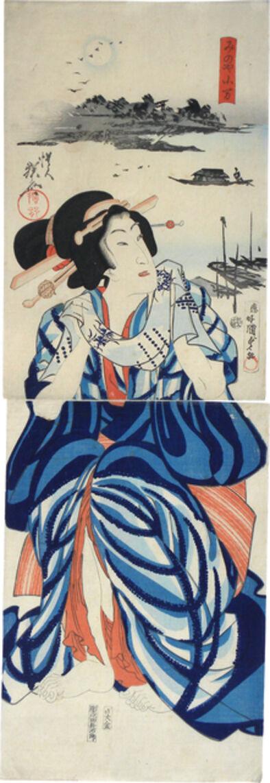 Utagawa Kunisada II, 'Koman of the Minoya', 1867