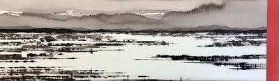 David Middlebrook, 'Flooded Salt Lake, China and I', 2019