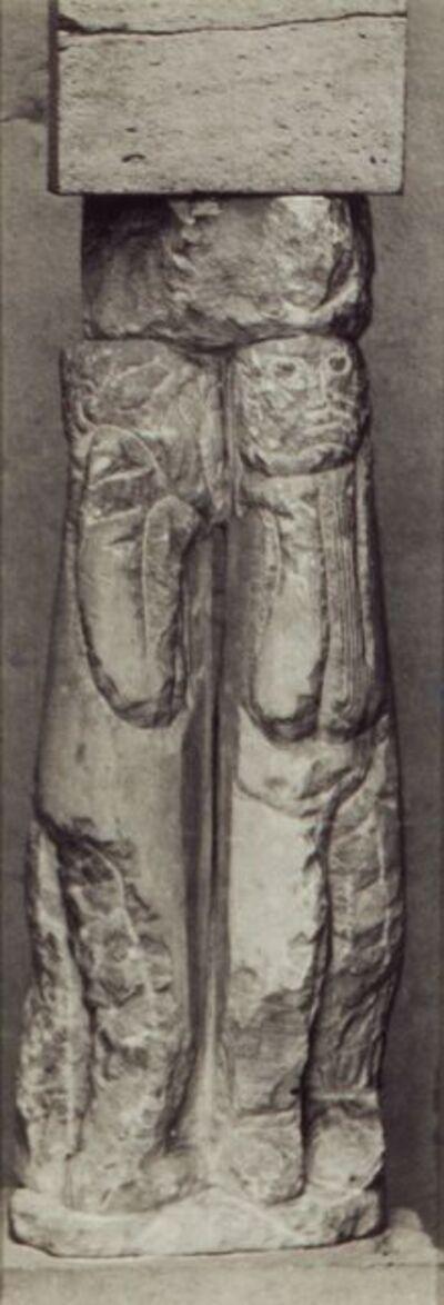 Constantin Brâncuși, 'Double Caryatid, Limestone, 1908', 1912