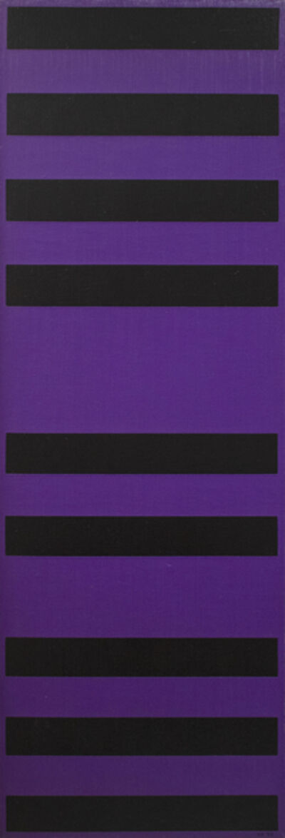 Karl Benjamin, 'Bars- Black and Purple', 1958