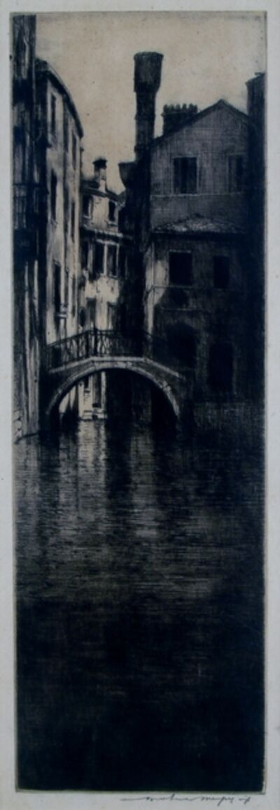 Mortimer Menpes, 'Shadowed Canal, Venice', ca. 1910