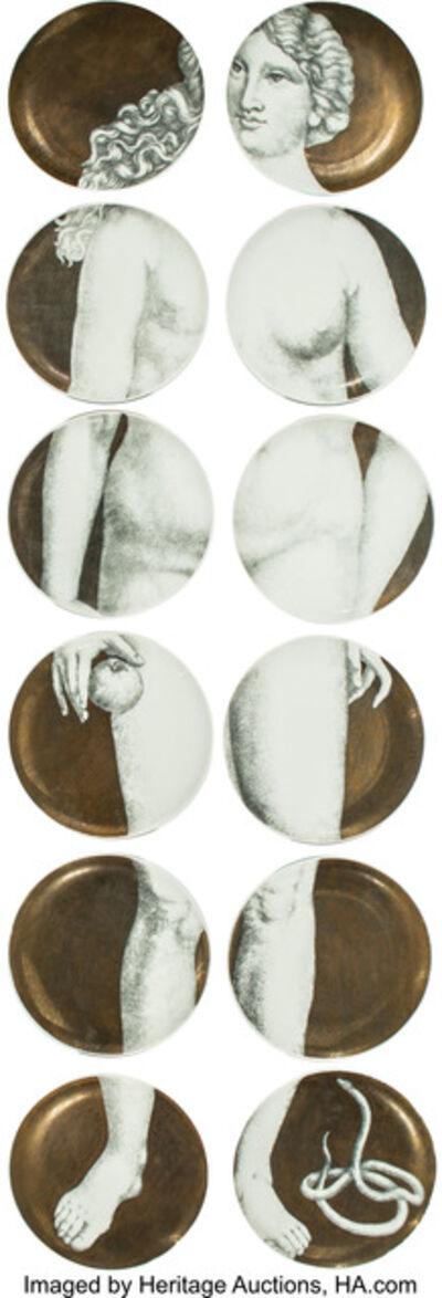 Piero Fornasetti, 'Eva Plates, set of twelve', circa 1955