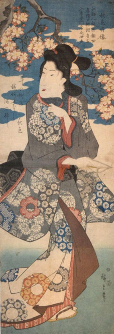 Utagawa Hiroshige (Andō Hiroshige), 'Under Cherry Blossoms', ca. 1845