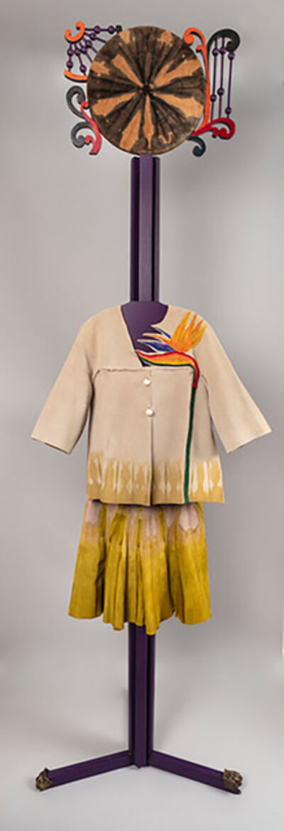 Jae Jarrell, 'Bird of Paradise Ensemble, Ode to Tie-Dyed Suede', 1993/2017