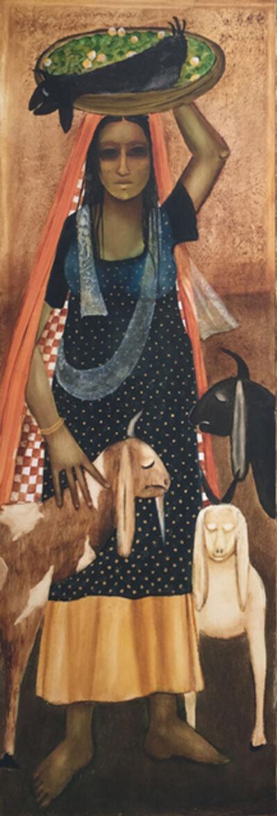 Anjolie Ela Menon, 'Goatherd (Panel I)', 2017