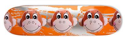 Jeff Koons, 'Skateboard Monkey Train - Orange', 2008