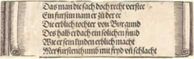 "Albrecht Dürer, 'Printed text for ""The Betrothal of Maximilian with Mary of Burgundy""', 1515"
