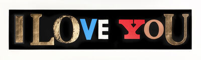 Peter Blake, 'I Love You (Black)', 2010