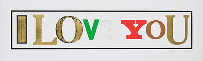 Peter Blake, 'I Love You', 2010