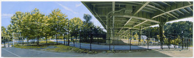 Rackstraw Downes, 'Under the Westside Highway at 145th Street: The Bike Path No. 1', 2009