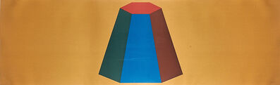 Sol LeWitt, 'Flat Top Pyramid with Colors Superimposed (Yellow)', 1988