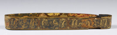 "Muhammad Isma'il Isfahani, 'Pen Case with Scenes from the ""Haft Paykar""', 1866-1867"