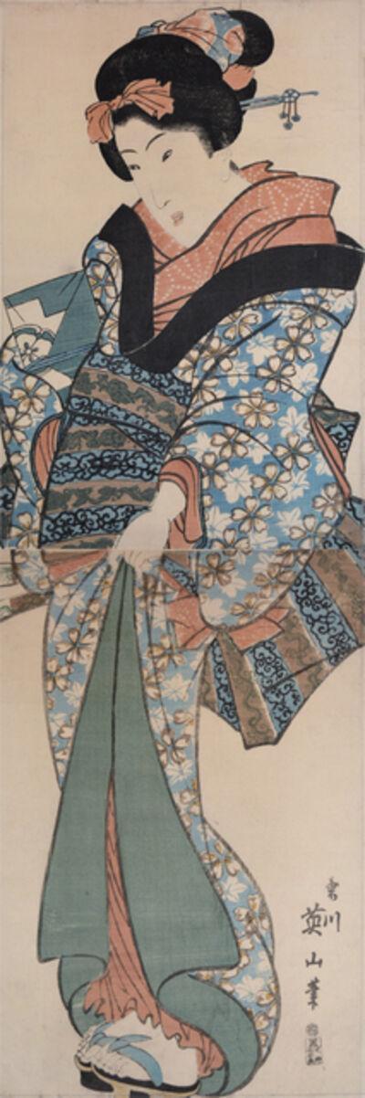 Kikukawa Eizan, 'Standing Young Girl', ca. 1820
