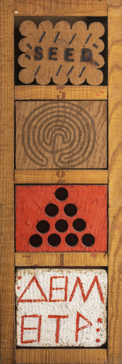 Joe Tilson, 'Demeter, seed, labyrinth, version A', 1982