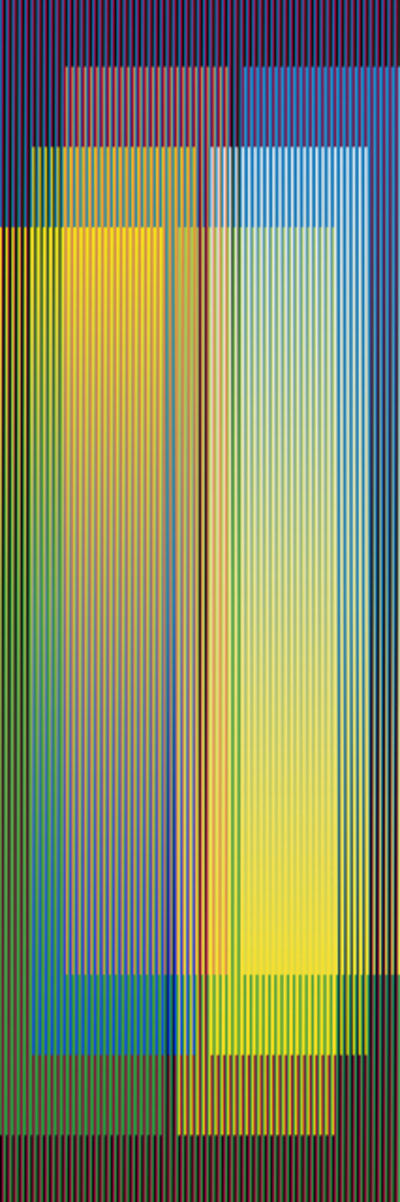 Carlos Cruz-Diez, 'Color Aditivo Serie Larga Panam 4', 2010