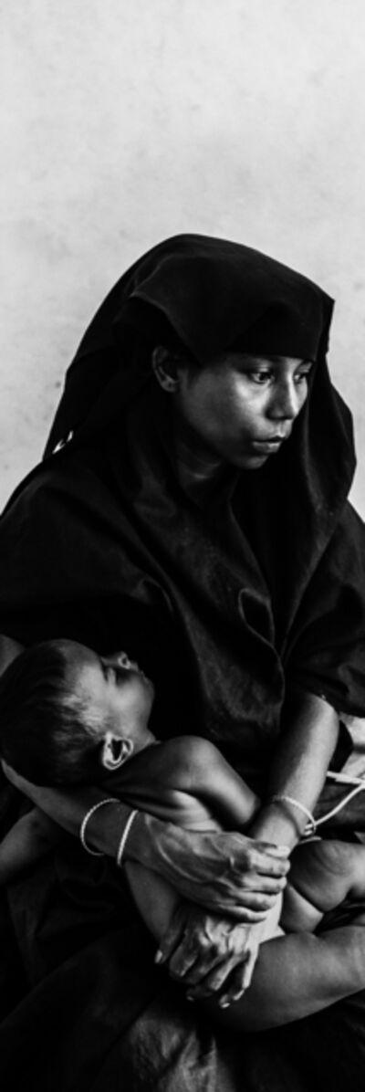 Edouard Elias, 'Une jeune femme réfugiée Rohingya et son enfant, Bangladesh, septembre 2017', 2019