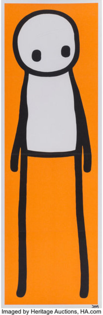 Stik, 'Standing Figure (Orange)', 2015