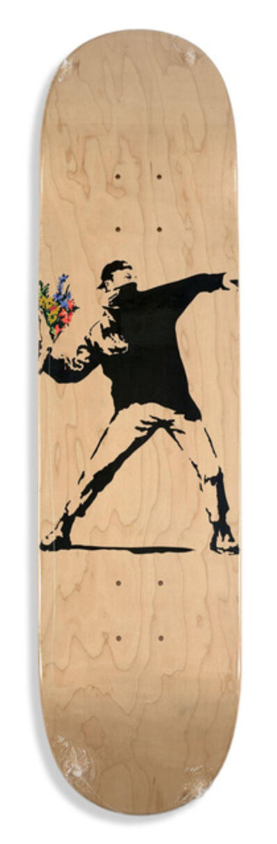 Banksy, 'Flower Thrower skate deck', 2016