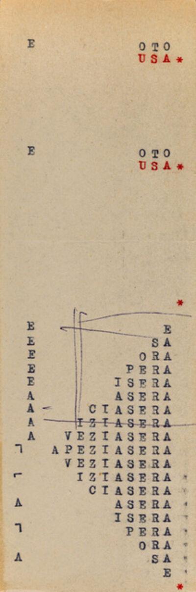Vincenzo Agnetti, 'Macchina drogata (fragment)', c. 1969