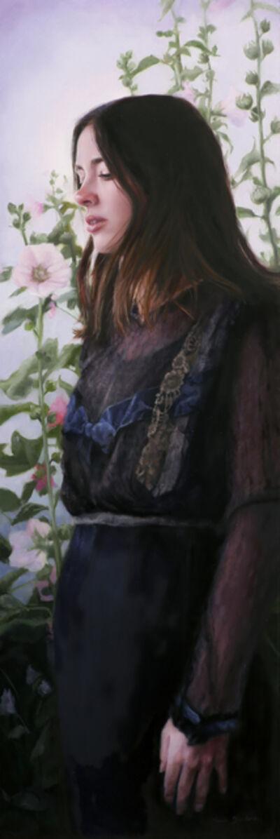 Sara Scribner, 'Evening Hollyhocks', 2019